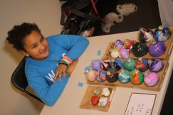 Nylah is 9 yrs old, she makes colorful art, ornaments and even has baked sweets and sold them at Circulate small